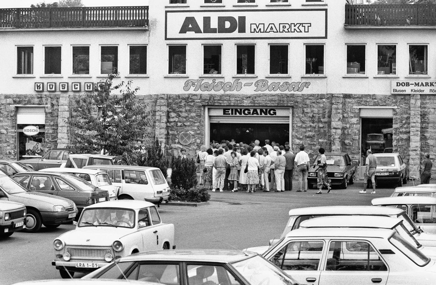 erste Einkäufe im Westen, Helmstedt, 1990