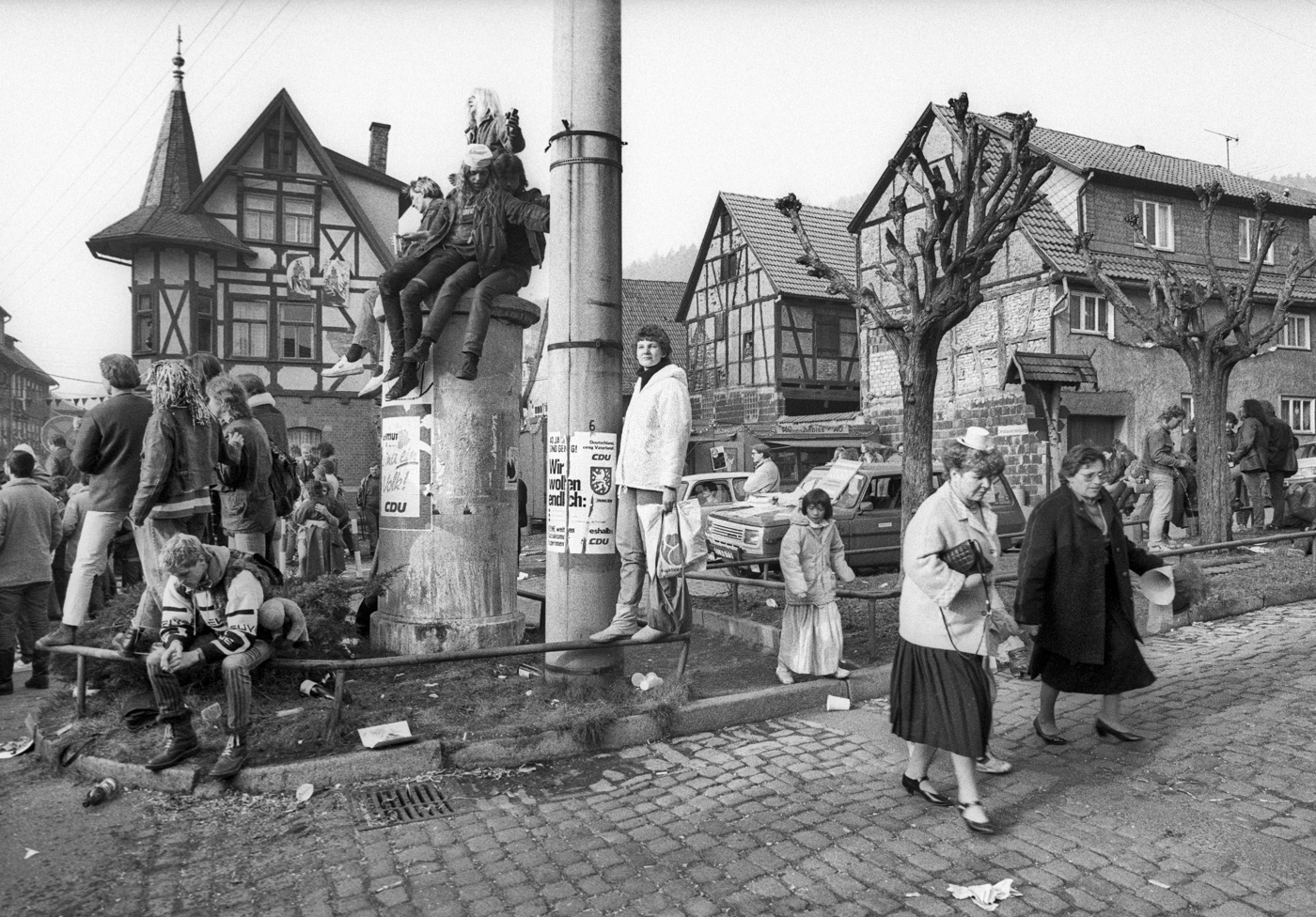 Karnevalisten in Wasungen, Thüringen