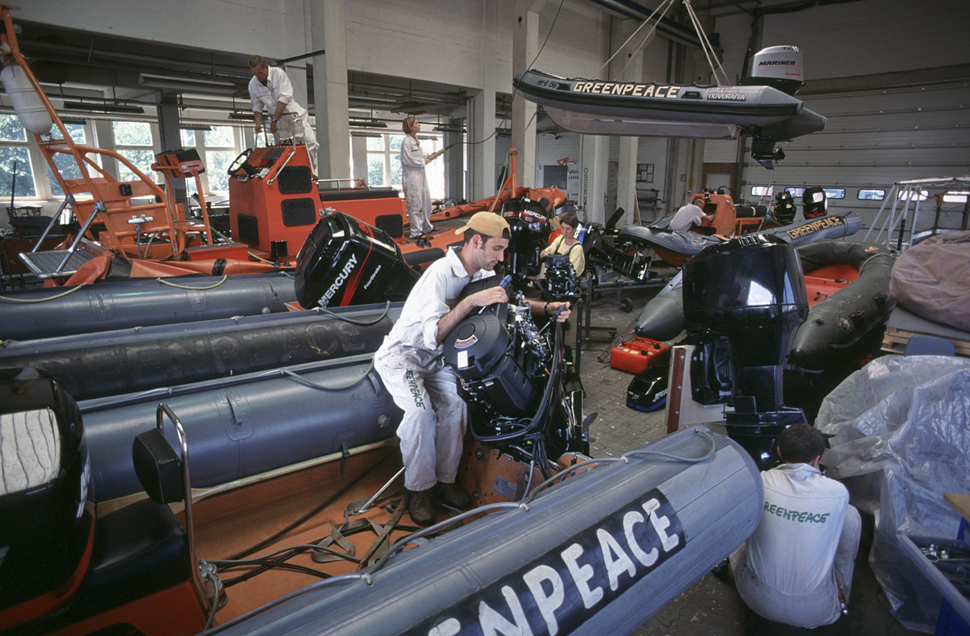 Greenpeace Bootswerkstatt, Hamburg