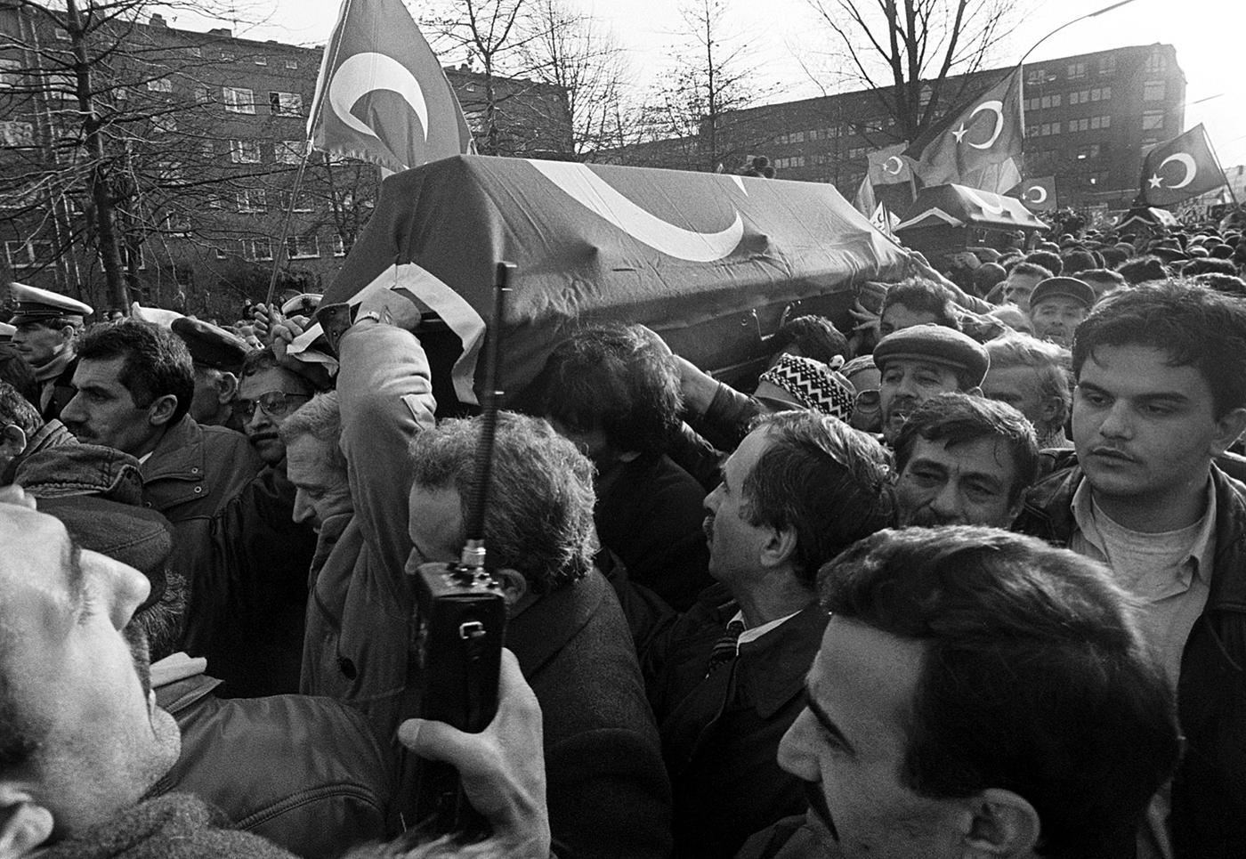 Trauerfeier für Möllner Terror-Opfer, Hamburg, 1992