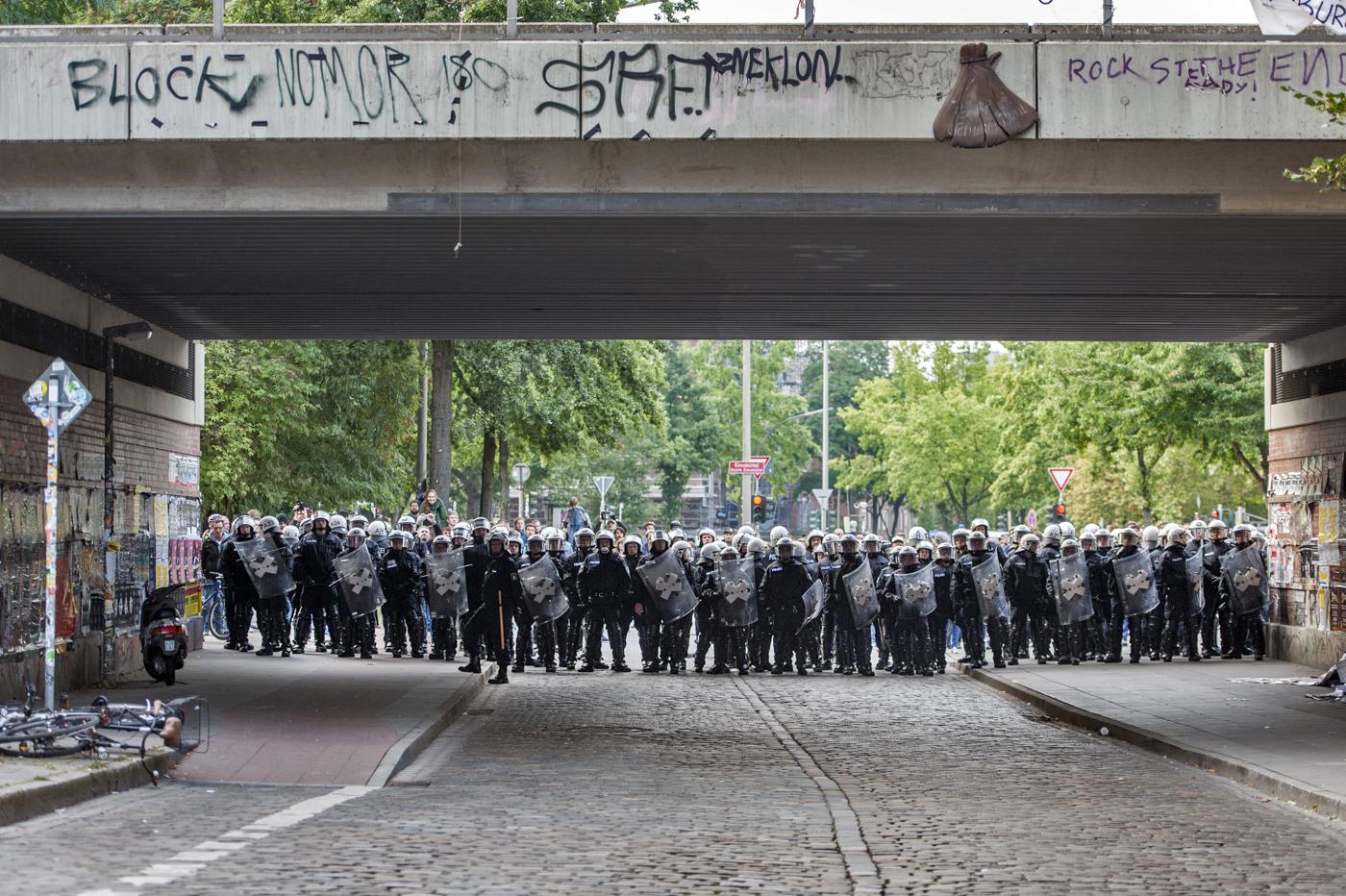 Polizei-Einsatz an der Roten Flora, Hamburg