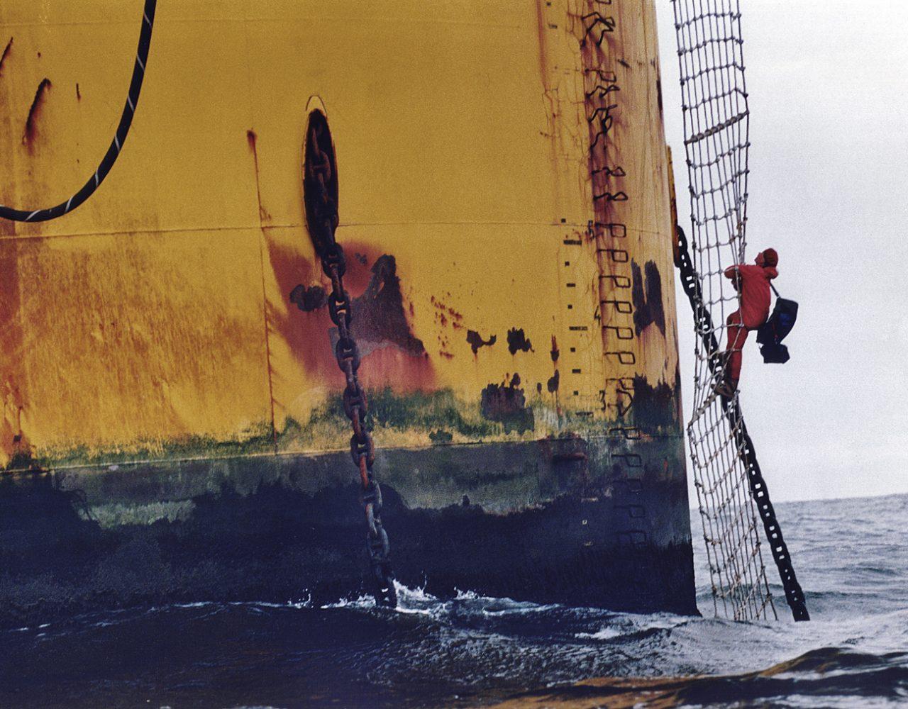 Besetzung der Shell Brent Spar durch Greenpeace, 1995